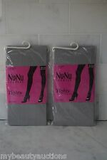 2 PACK. Nu & Nu Leg Wear Womens Silver Tights. One Size. NEW. FREE SHIPPING.