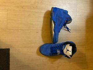 Men's Air Jordans Size 11 Suede Blue high tops
