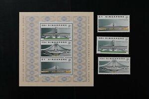 Singapore #556-8a 1989 VF MNH set + s/s 2017 cv$11.00 (d026)