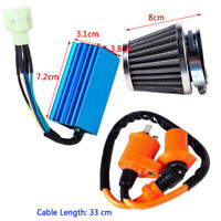 Racing Ignition Coil +CDI +Air Filter Kit Fit For GY6 50-150cc Engine Moped ATV