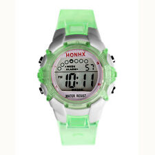 Waterproof Children Girls Digital LED Quartz Alarm Date Sports Wrist Watch NEW