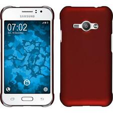 Hardcase Samsung Galaxy J1 ACE rubberized red Cover + protective foils