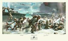 Autographed by RV Burgin depicted in HBO's THE PACIFIC WWII Peleliu Art Print