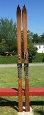 """OLD WOODEN Skis 87"""" + POINTS Snow L@@K!"""