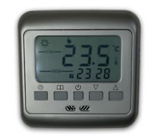 Digital Thermostat Room Thermostat Weekly Program Programmable Silver #860