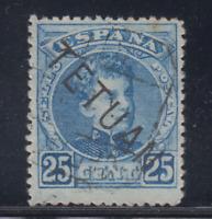 MARRUECOS (1908) USADO SPAIN - EDIFIL 20 (25 cts) TETUAN
