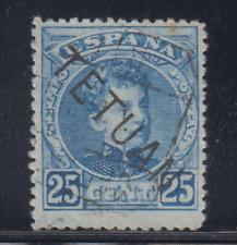 Marokko (1908) Used Spain - Edifil 20 (25 Cts) Tetuan