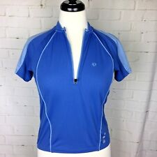 PEARL IZUMI Women's 1/4 Zip Cycling Jersey Shirt Blue Style 0816 Size Small