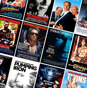 ARNOLD SCHWARZENEGGER CLASSIC MOVIE POSTERS - Retro Prints - Terminator, Conan