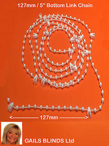 "PACK OF 20m  BOTTOM CHAIN 5"" (127mm)VERTICAL BLIND REPAIRS & SPARES"