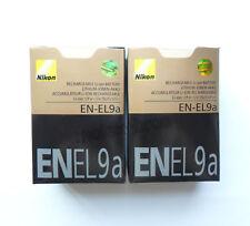 2 x EN-EL9a EL9a New Batteries For Nikon DSLR D60 D40 D40x D5000 D3000