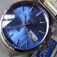 Seiko Type 2 Quartz 7546-8190 Day/Date Vintage Men's Watch from JP