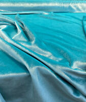 Exclusive Velveteen Spa Blue Drapery Upholstery Fabric by the yard