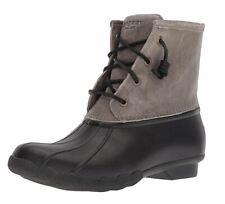Sperry Women's Saltwater Rain Boots Black/Grey US 9 M