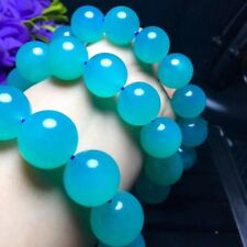 15-16mm Natural ice Amazonite Mozambique Gemstone Polished Beads Bracelet