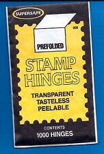 Supersafe Stamp 1000 Hinges GREAT PRICE Stamp Collectors