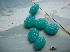 GLASPERLEN (Böhm.) TRAUBEN perlen meerblau – ca. 14 mm lang (6)