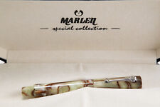 MARLEN Eclisse Quasar Fountain Pen mod KM2120 18k B nib sterling trim LN in box