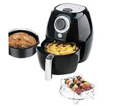 Kochwerk 9 in 1 Fritteuse Grill Ofen Heissluftfritteuse Brotbackautomat Schwarz