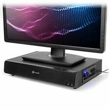 GOgroove 2.1 Computer Speakers and Monitor Stand 2-in-1 System - Blackout