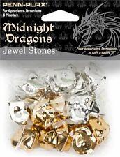 Penn Plax Midnight Dragons Jewel Stones Acrylic Decoration 16 Pc Gold & Silver