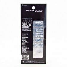 Maybelline COLOR SHOW FASHION PRINTS MIRROR EFFECT NAIL STICKERS 60 FRAYED FOILS