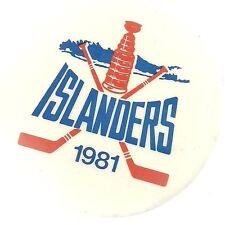 NEW YORK ISLANDERS NHL 1981 HOCKEY PIN BUTTON