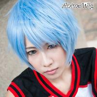 Kuroko no Basukeayered Anime Cosplay Wig Kuroko Tetsuya Short Light Blue L