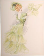 New York Show Girl 1907 Victorian Color Litho Print: Casino - Chromolithograph