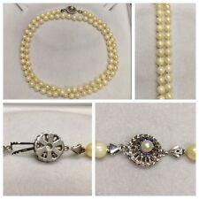 LUNGO Akoya Collana di perle 750er weißgoldverschluss accessori con saphirsteine