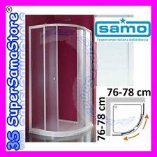 3S BOX DOCCIA SAMO modello CIAO CRISTALLO STONDATO TONDO QUADRATO da 76 a 78 cm