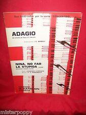 BONELLI Adagio + MONTEBELLO Nina no far la stupida Spartiti 1971