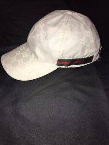 GUCCI ULTRA RARE RIVA WHITE YACHT BOATS BASEBALL CAP L HAT GG STRIPES AUTHENTIC