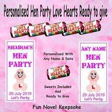 Personalised Tic Tac/'s Hen DO Night Party Weekend Favour L PLATE Bag Filler Gift