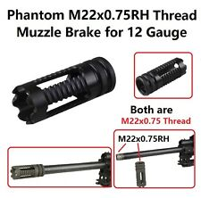 22x0.75RH TPI Thread Muzzle Brake For 12 GA Gauge, Made of Steel