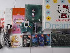 SEGA Dreamcast HELLO KITTY BLUE (HKT-3000) Console,Pad,5 games,Manual,Boxed-L-