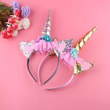 Hot Magical Unicorn Horn Head Party Kids Hair Headband Fancy Dress Cosplay Decor