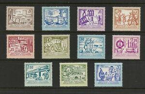 E648   Albania  1979    various industries   definitives   11v.    MNH