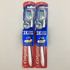 Colgate 3X Cleaning Action 360 Total Advanced Whitening Toothbrush Soft Lot of 2