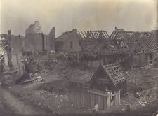 France Belgique Ruines de la Grande Guerre WW1 Photo Vintage vers 1919