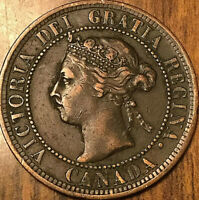 1897 CANADA LARGE CENT PENNY LARGE 1 CENT COIN