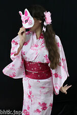 浴衣 Yukata japonais - Papillon variation rose - Import direct Japon !