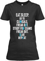 Funny Nursing School Graduation Rn Tshir - Eat Sleep Gildan Women's Tee T-Shirt