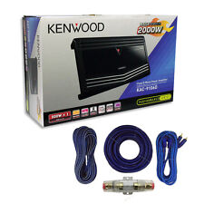 KENWOOD KAC-9106D Mono Subwoofer Amplifier 1000 watts RMS + Amp Install Kit***
