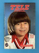 ►TELE JOURNAL 262/1979 - ROMAIN TREMBLEAU - J.P. CASSEL -  SPECIAL JOUETS NOEL