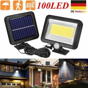 4X 20W Solar LED Fluter mit PIR Bewegungsmelder Außen Strahler Solarleuchten SMD