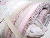 Pottery Barn Kids Nicki Embellished Sequin Shimmer Floral Twin Quilt Euro Sham