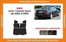 pellicola oscurante vetri bmw serie 7 berlina short dal 2002-2008 kit posteriore