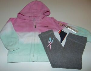 ~NWT Girls REEBOK Zip-Up Hoodie Outfit! Size 24 Months Super Cute:)!