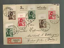 1937 Schkeuditz Germany Registered Cover  to Baden